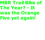 MBR Trail Bike of The Year? - It was the Orange Five yet again!
